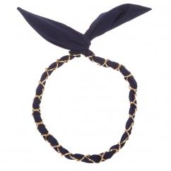 Bandeau cheveux Bijou bleu marine - Bandeau Vintage