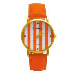 Montre orange Rayée