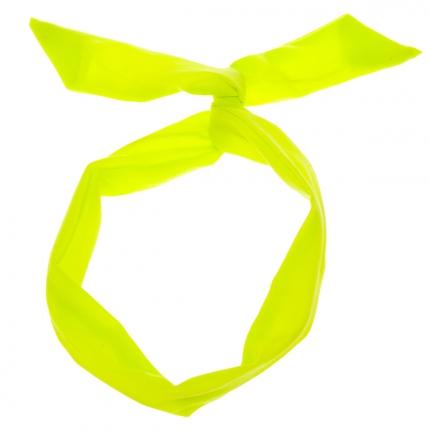 Bandeau à nouer jaune fluo