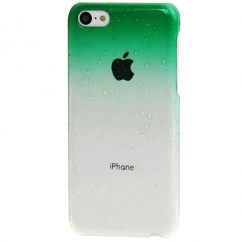 Coque Iphone 5C Dégradé vert transparente