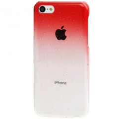 Coque Iphone 5C Dégradé rouge transparente