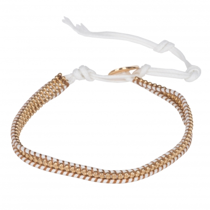 Bracelet cuir femme blanc