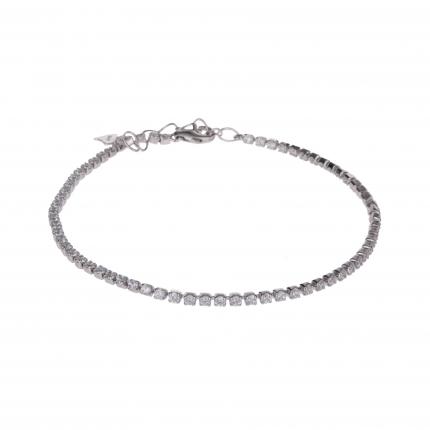 Bracelet argent femme strass - Bracelet Strass