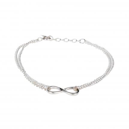 Bracelet fin argent infini