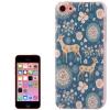 Coque Iphone 5C Bleu Motif Cerf