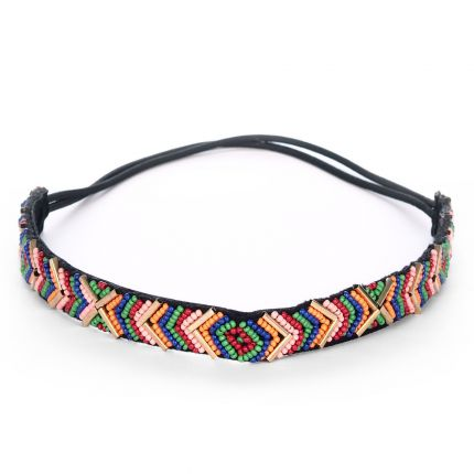 Headband ethnique perles colorées - Headband Perle