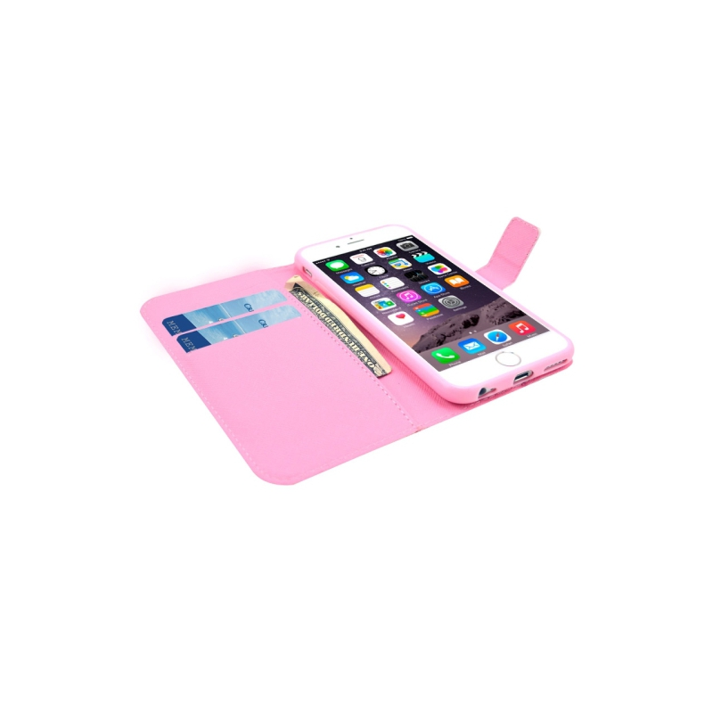 Etui portefeuille iphone 6 6s chevrons roses et bleus for Etui iphone 6 portefeuille