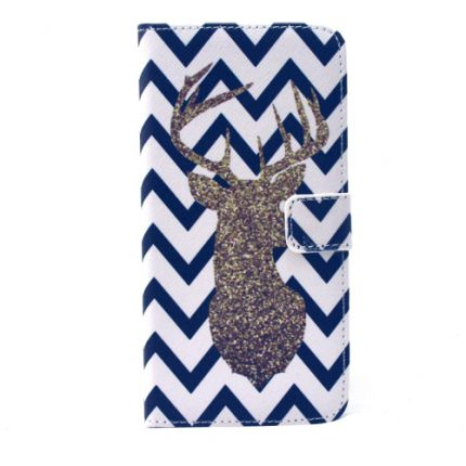 Etui portefeuille Iphone 6 Plus Chevron Cerf