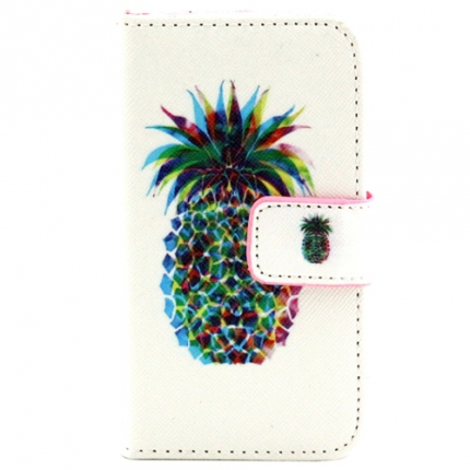 Etui portefeuille Iphone 4 / 4S Ananas
