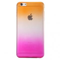 Coque Iphone 6 Plus silicone Dégradé rose et orange