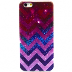 Coque Iphone 6 Plus silicone Chevron Galaxy