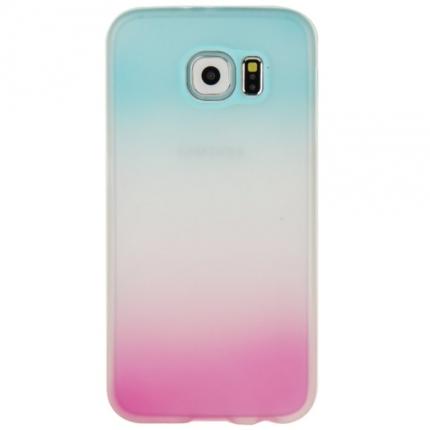 Coque Samsung Galaxy S6 silicone Dégradé bleu et rose