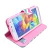 Etui portefeuille Samsung Galaxy S5 Chevrons roses et bleus