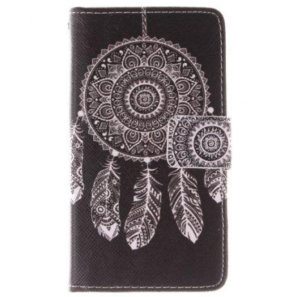 Etui portefeuille Nokia Lumia 630 Attrape rêve noir
