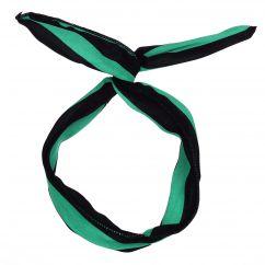 Bandeau cheveux Rayé vert et noir - Bandeau Vintage