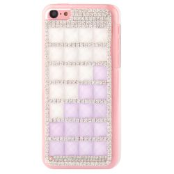 Coque Iphone 5C strass parme