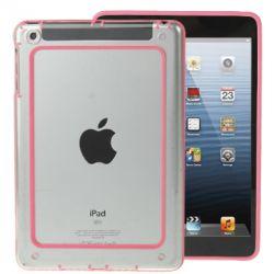 Bumper Ipad mini 1/2/3 transparent et rose