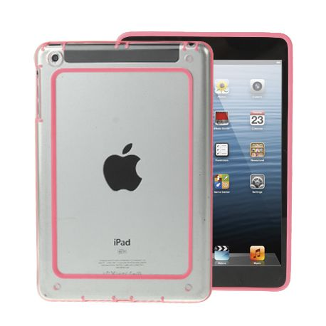 Bumper Ipad mini 1/2/3 transparent et rose