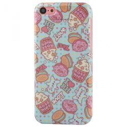 Coque Iphone 5C silicone cupcake