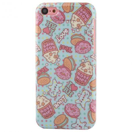 Coque Iphone 5C silicone cupcake