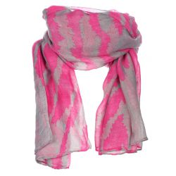 Foulard rose et gris zebré