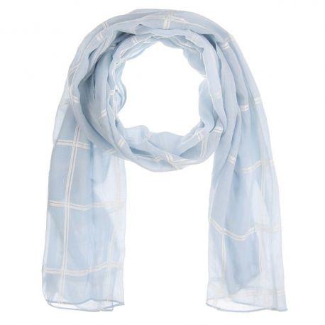 Foulard Femme Bleu ciel Carreaux