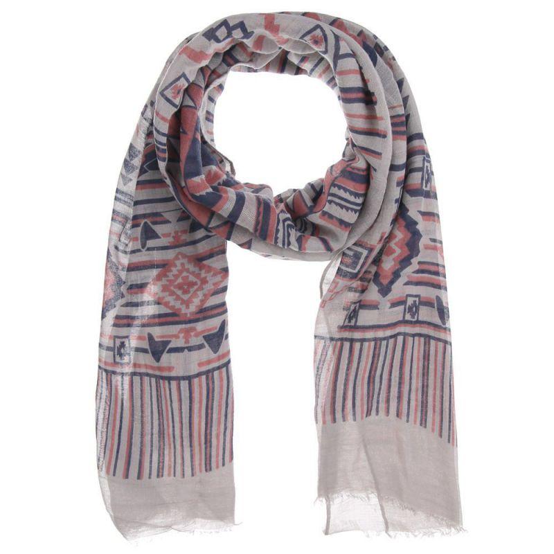 foulard femme ethnique bleu marine gris et rose. Black Bedroom Furniture Sets. Home Design Ideas