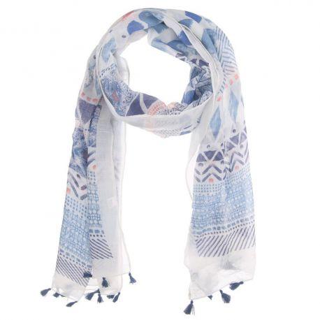 Foulard bleu femme écharpe hiver femme grosse et grande   Rlobato b07d1cf6a37