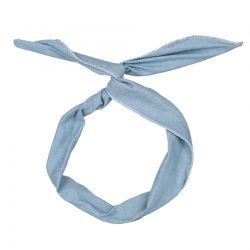 Bandeau Cheveux Jean bleu clair - Bandeau Vintage