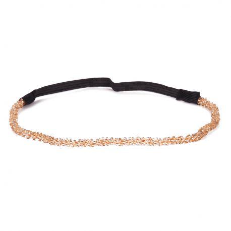 Headband mariage perle champagne - Headband Fin