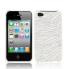Coque Iphone 4 / 4S Blanche vague paillette