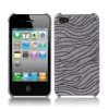 Coque Iphone 4 / 4S Grise vague paillette
