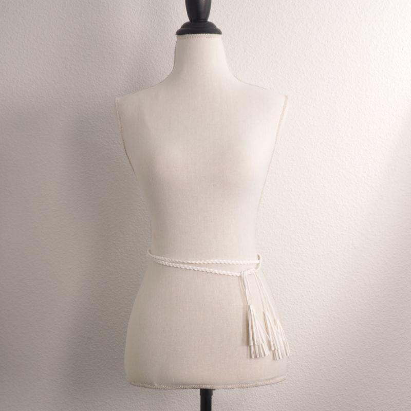 7310fddb88e Ceinture Femme - Ceinture Suédine Pompon Blanc