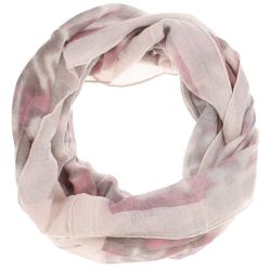 Echarpe tube femme tie and dye rose