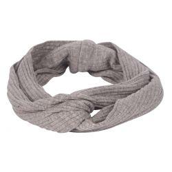 Bandeau cheveux - Bandeau turban côtelé gris