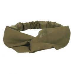 Bandeau cheveux - Bandeau turban voile kaki