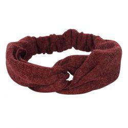Bandeau cheveux - Bandeau turban laine bordeaux