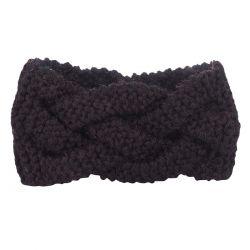 Bandeau tricot - Bandeau large torsadé maille noir