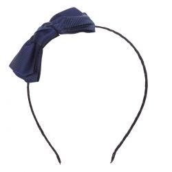 Serre tête noeud ruban bleu - Serre-tête Femme