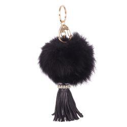 Porte clés pompon noir - Porte clés femme