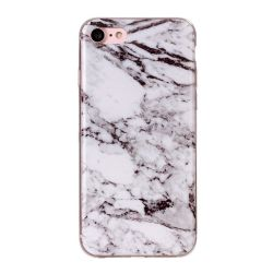 Coque Iphone 7 silicone marbré blanc
