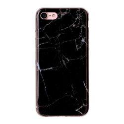 Coque Iphone 7 silicone marbré noir