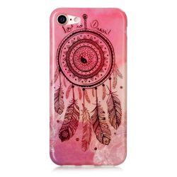 Coque Iphone 7 silicone rose attrape rêve
