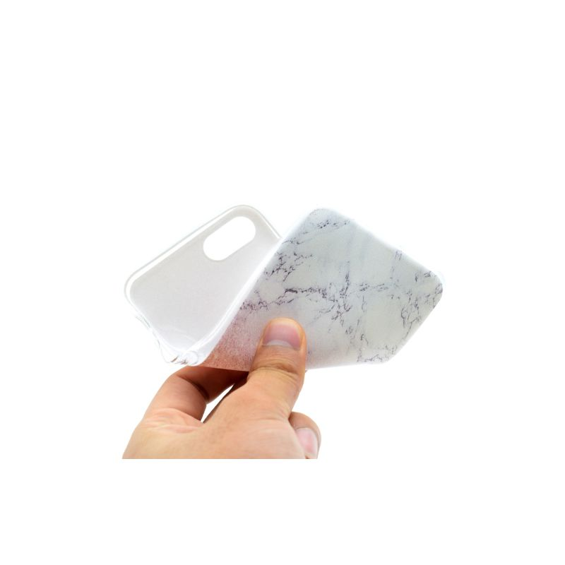 coque iphone 6 silicone marbre blanc