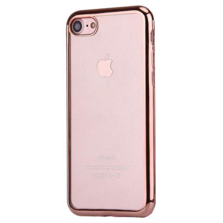 Coque Iphone 7 silicone transparente et rose gold