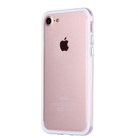 Bumper Iphone 7 transparent et blanc