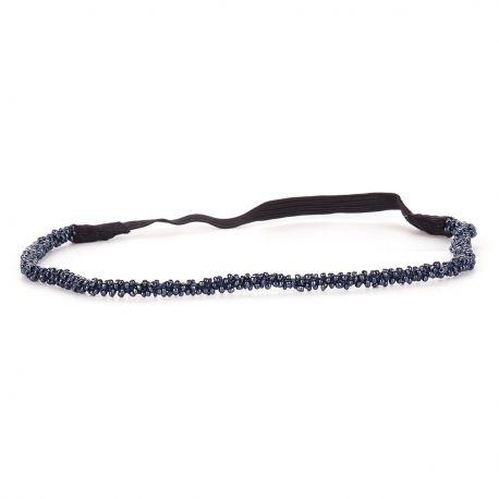 Headband Mariage Perle Gris bleu - Headband Perle