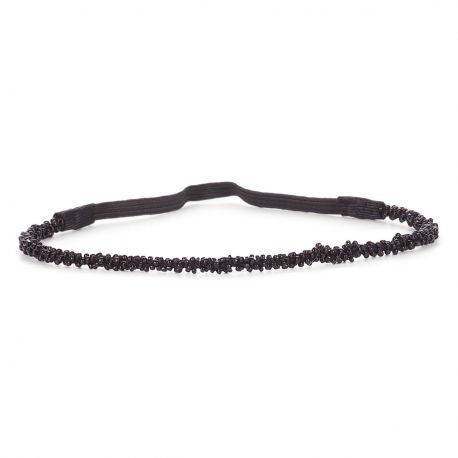 Headband Mariage Perle Noire - Headband Noir