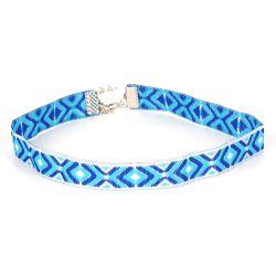Collier Choker Ethnique Bleu - Choker - Ras de cou