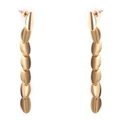Boucles d'oreilles Pendantes Ovales Dorés - Boucles d'oreilles Longues